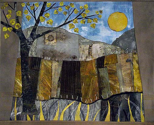 The Road through Elphin - Textile Wall Hanging