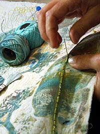 Beginners Stitching textile workshop