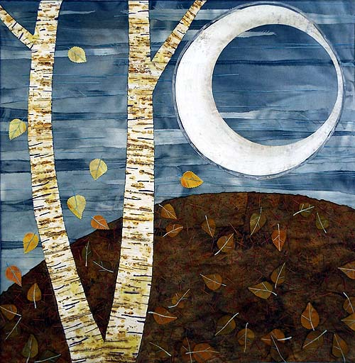 birch lovers, textile by Jan Kilpatrick
